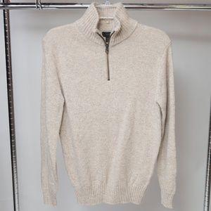 J. Crew Lambswool Half-zip Sweater XS